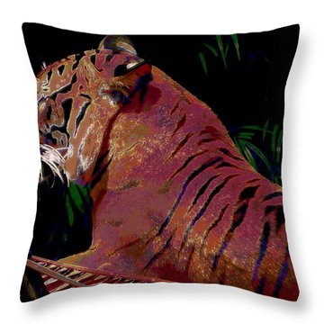 Tiger 2 Throw Pillow by David Mckinney