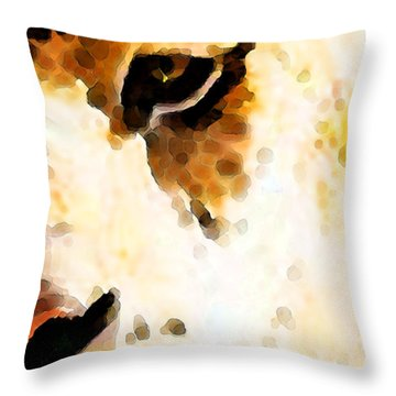 Tiger Art - Pride Throw Pillow by Sharon Cummings