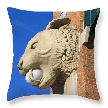 Tiger Baseball Throw Pillow by Ann Horn