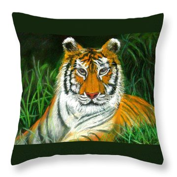 Tiger Eyes - Pastel Throw Pillow