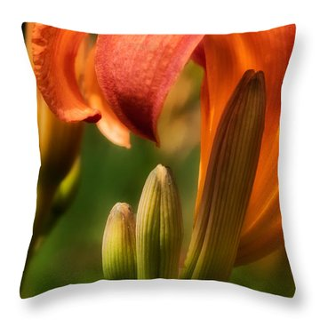 Tiger Lilly Throw Pillow by Bill Wakeley