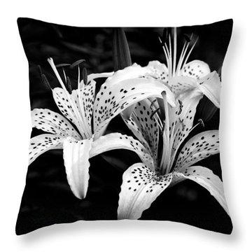 Tiger Lily I Throw Pillow by Jeff Burton