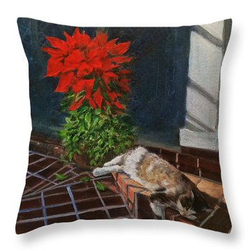 Tiger Lily In Repose Throw Pillow
