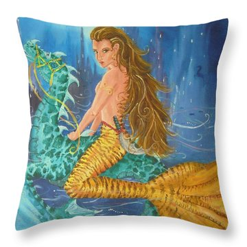 Tiger Lily Tails Throw Pillow