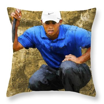 Tiger Throw Pillow by Robert Smith