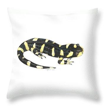 Tiger Salamander Throw Pillow