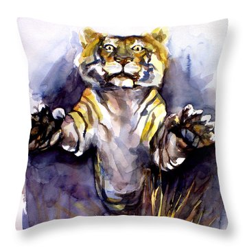 Tiger Tiger Throw Pillow