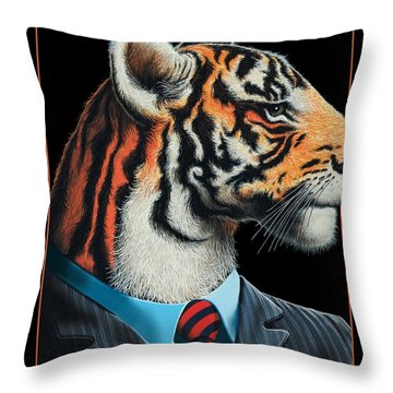 Tigerman Throw Pillow