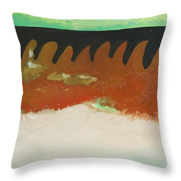 Tigers Hide Throw Pillow by Joseph Demaree