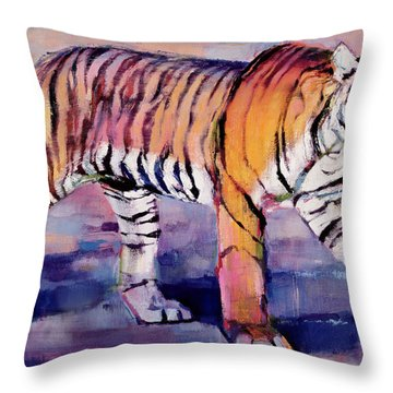 Tigress, Khana, India Throw Pillow by Mark Adlington