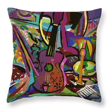 Throw Pillow featuring the digital art Tijuana by Clyde Semler