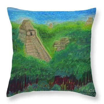 Tikal 2 By Jrr Throw Pillow by First Star Art