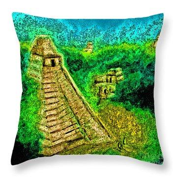Tikal By Jrr Throw Pillow by First Star Art