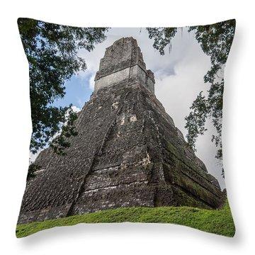 Tikal Pyramid 1b Throw Pillow