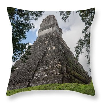 Tikal Pyramid 1b Throw Pillow