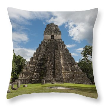Tikal Pyramid 1j Throw Pillow