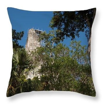 Tikal Pyramid 4a Throw Pillow