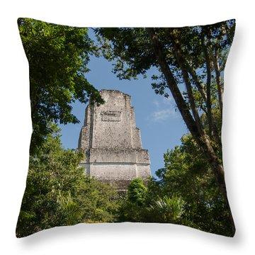 Tikal Pyramid 4b Throw Pillow