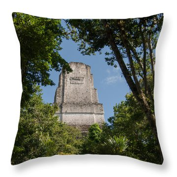 Tikal Pyramid 4b Throw Pillow