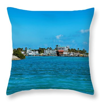 Tiki Bar Islamorada Throw Pillow