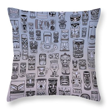 Tiki Cool Zone Throw Pillow