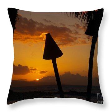Tiki Time In Maui Throw Pillow