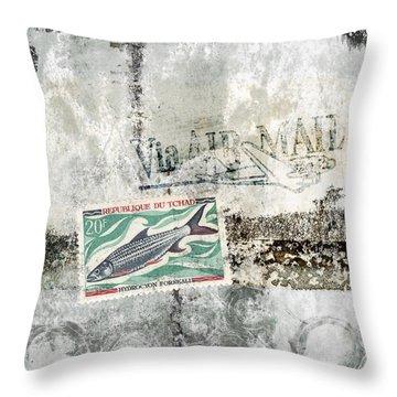 Tilapia Air Mail Throw Pillow