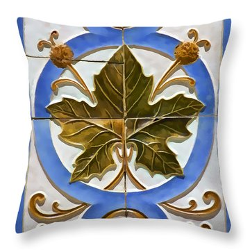 Tile Of Portugal Throw Pillow