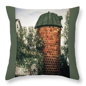 Tile Silo Throw Pillow