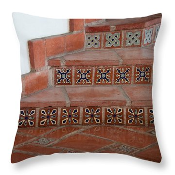 Tiled Stairway Throw Pillow by Art Block Collections