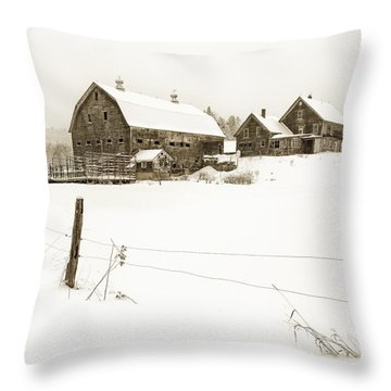 Till Dawn Farm Throw Pillow