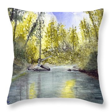 Tillamook Fishing Throw Pillow