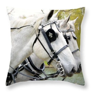 Throw Pillow featuring the photograph Tillie And Bruce #2 by Jeannie Rhode