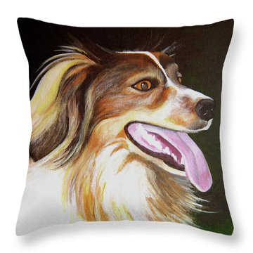 Throw Pillow featuring the painting Tillie by Janice Dunbar