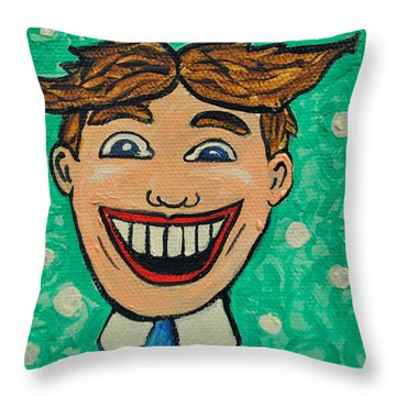 Tillies Surprise Throw Pillow by Patricia Arroyo