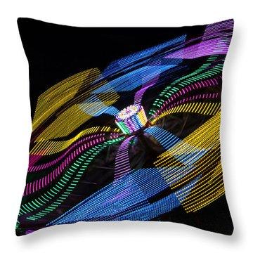 Throw Pillow featuring the photograph Tilt A Whirl by Steven Bateson
