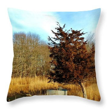 Tilted Tree  Throw Pillow