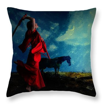 Tilting At Windmills Throw Pillow