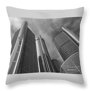 Tilting Towers Throw Pillow