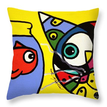 Tim And Dave Throw Pillow