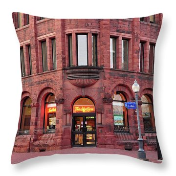 Tim Hortons Coffee Shop Throw Pillow by Glenn Gordon