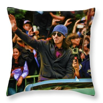 Tim Lincecum World Series 2012 Throw Pillow
