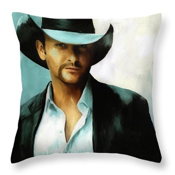 Tim Mcgraw Throw Pillow