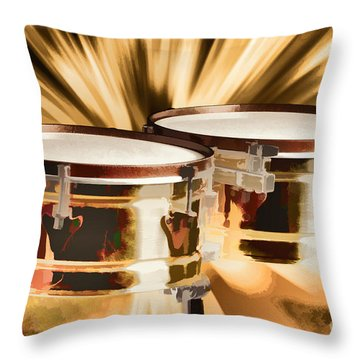 Timbale Drums For Latin Music Painting In Color 3326.02 Throw Pillow