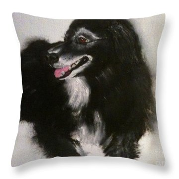 Throw Pillow featuring the painting Timber by Denise Tomasura