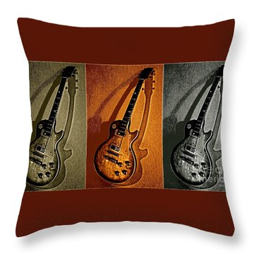 Timbre Rock Throw Pillow