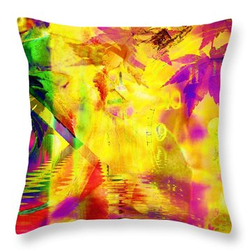 Time As An Abstract Throw Pillow by Elizabeth McTaggart