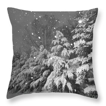 Time For Bed Throw Pillow by Elizabeth Dow