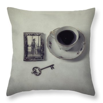 Time For Coffee Throw Pillow by Joana Kruse