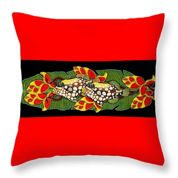 Throw Pillow featuring the painting Time For Dinner by Debbie Chamberlin